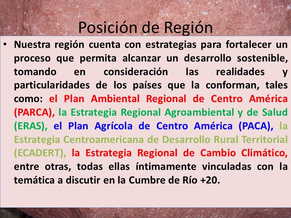 Posición de Región