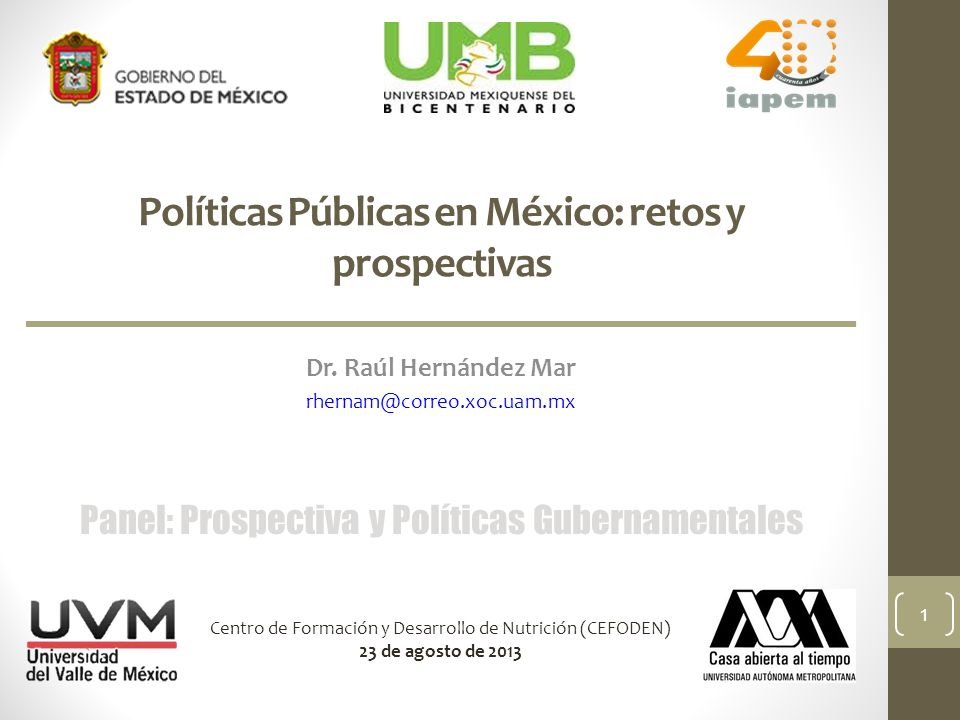Políticas Públicas en México: retos y prospectivas