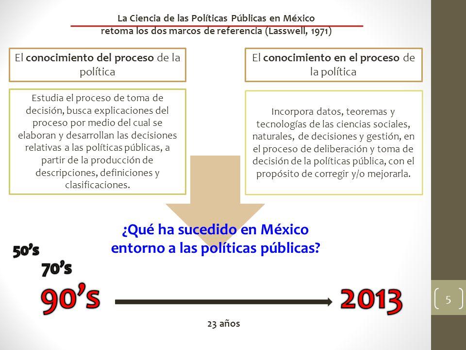 90's 2013 70's ¿Qué ha sucedido en México