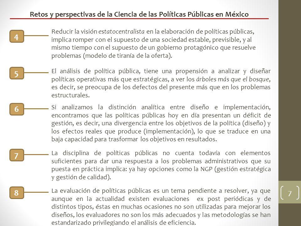Retos y perspectivas de la Ciencia de las Políticas Públicas en México