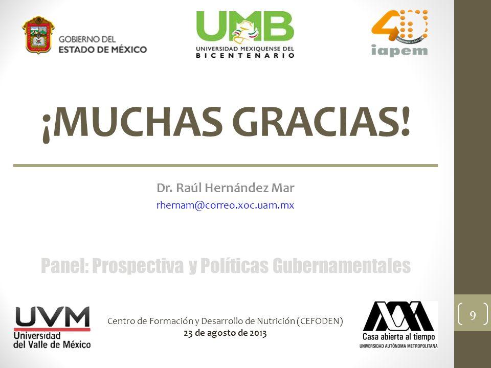 Dr. Raúl Hernández Mar rhernam@correo.xoc.uam.mx