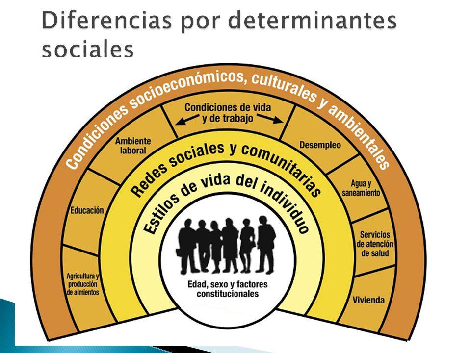Diferencias por determinantes sociales