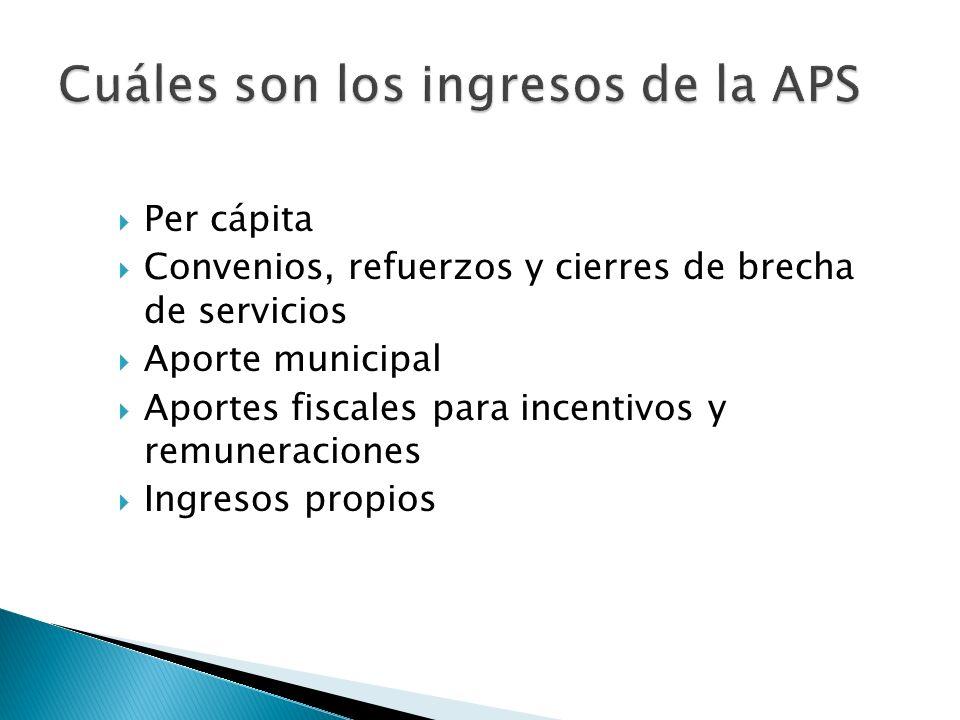 Cuáles son los ingresos de la APS