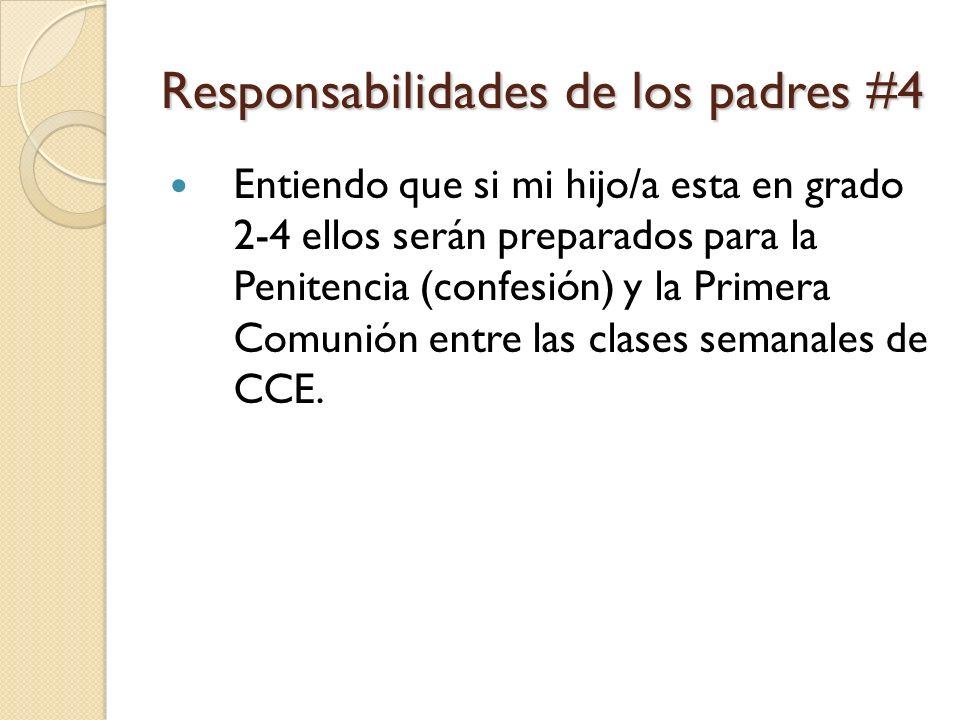 Responsabilidades de los padres #4