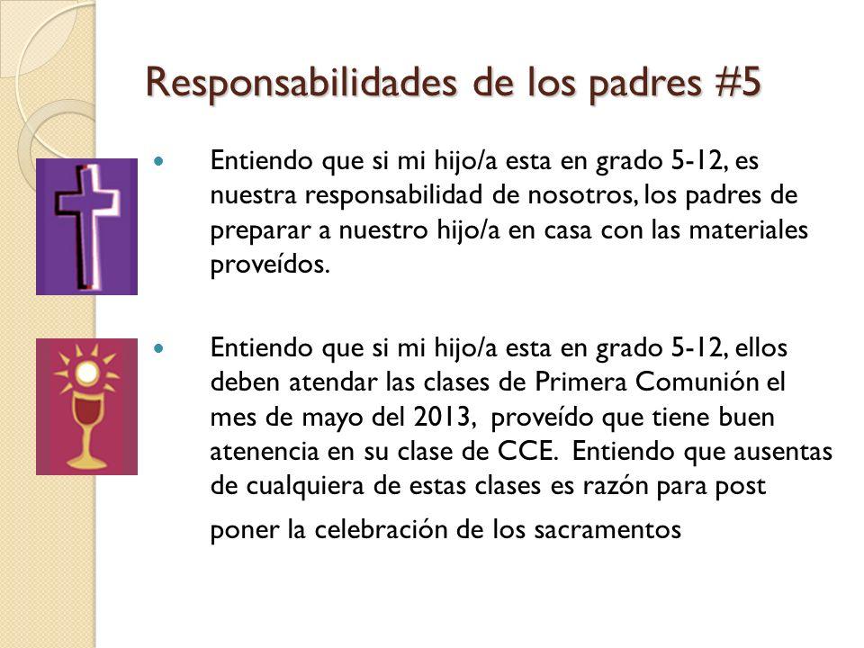 Responsabilidades de los padres #5