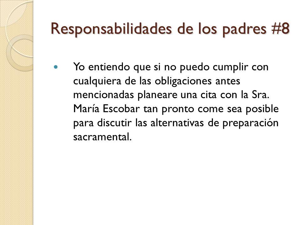 Responsabilidades de los padres #8