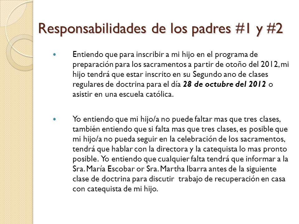 Responsabilidades de los padres #1 y #2