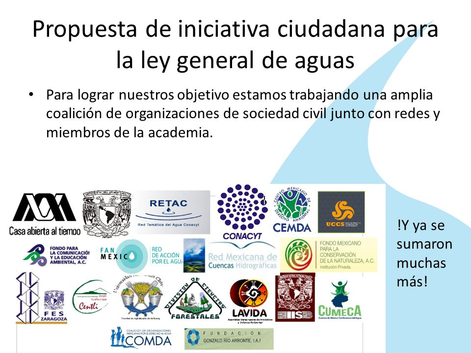 Propuesta de iniciativa ciudadana para la ley general de aguas