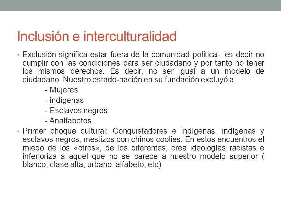 Inclusión e interculturalidad