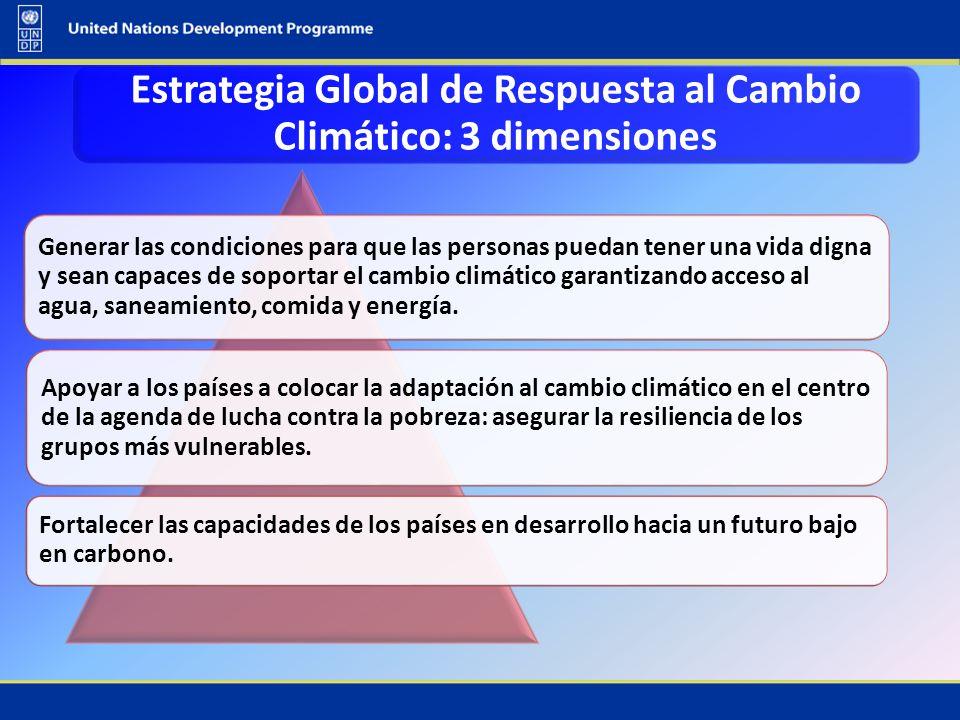 Estrategia Global de Respuesta al Cambio Climático: 3 dimensiones