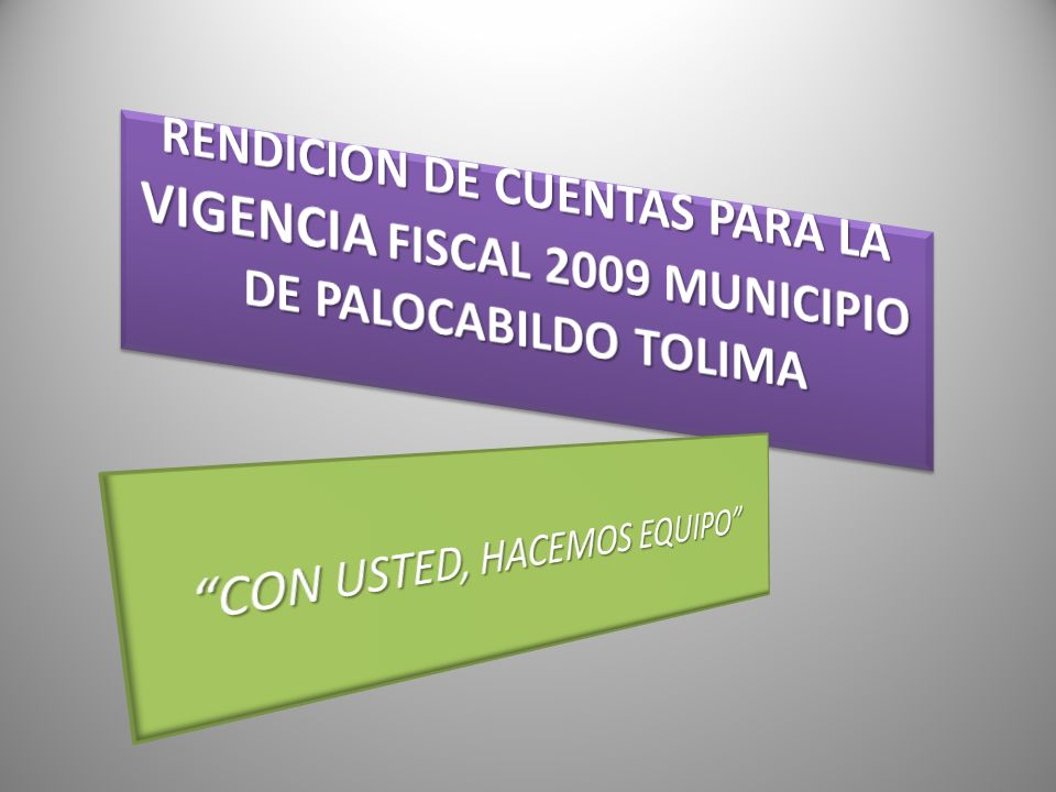 CON USTED, HACEMOS EQUIPO