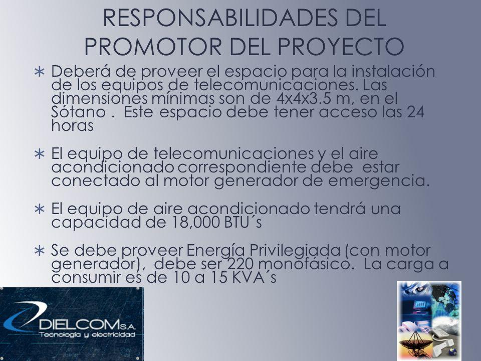 RESPONSABILIDADES DEL PROMOTOR DEL PROYECTO
