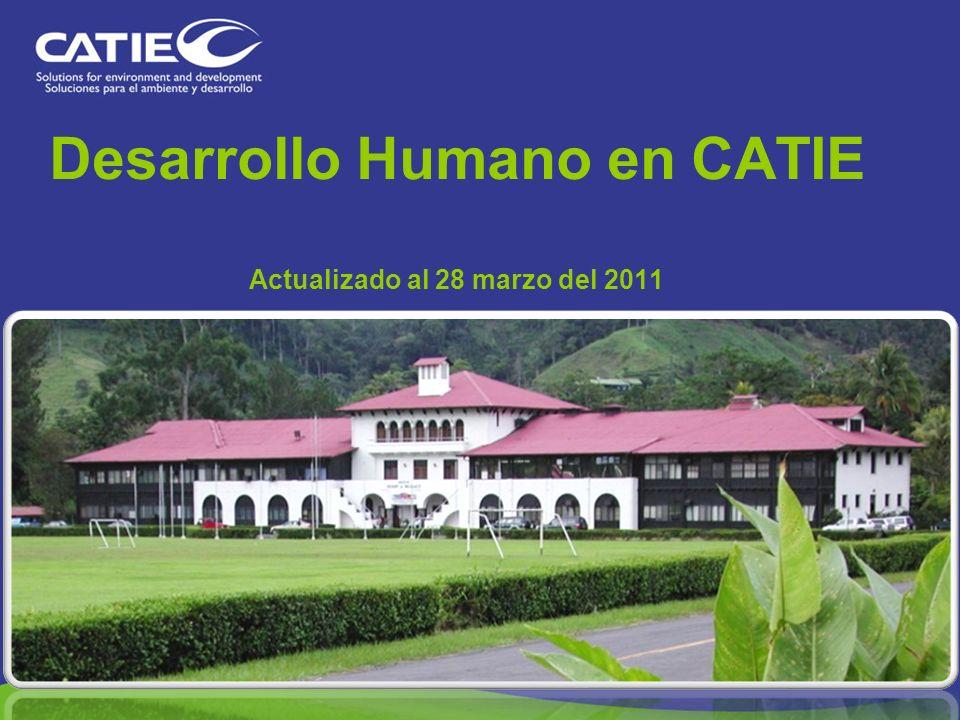 Desarrollo Humano en CATIE Actualizado al 28 marzo del 2011
