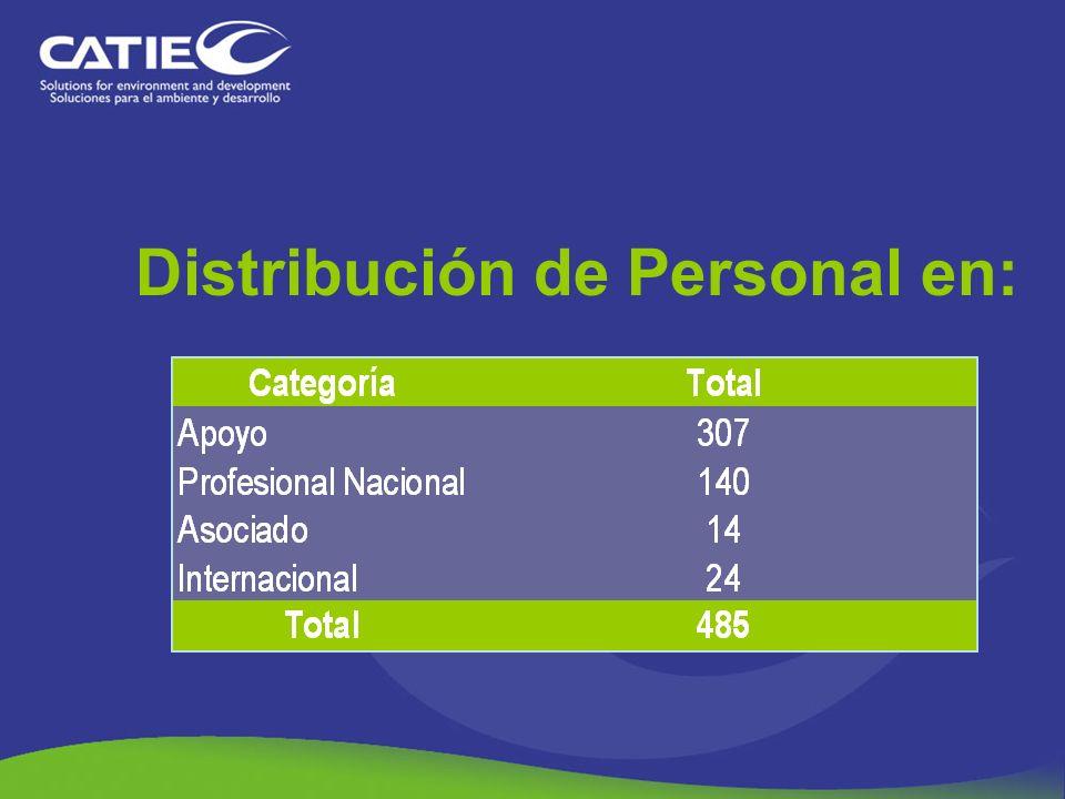 Distribución de Personal en: