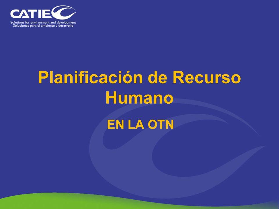 Planificación de Recurso Humano