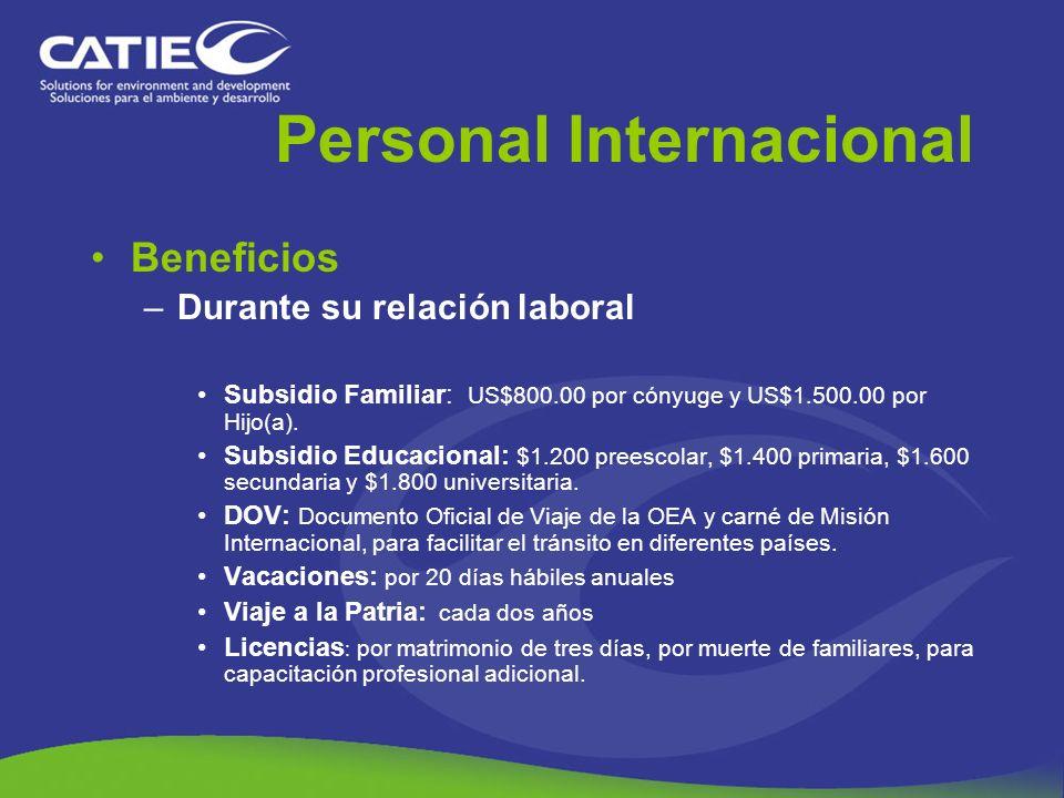 Personal Internacional