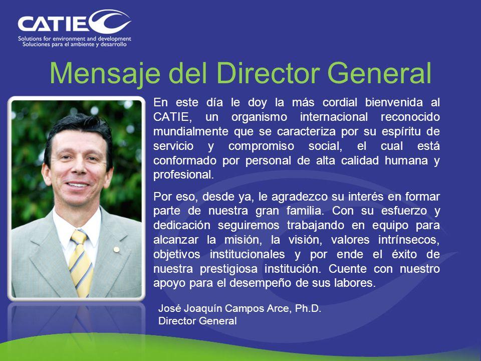 Mensaje del Director General