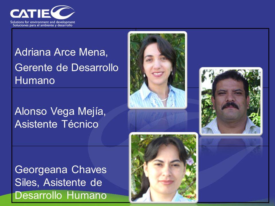 Adriana Arce Mena,Gerente de Desarrollo Humano.Alonso Vega Mejía, Asistente Técnico.