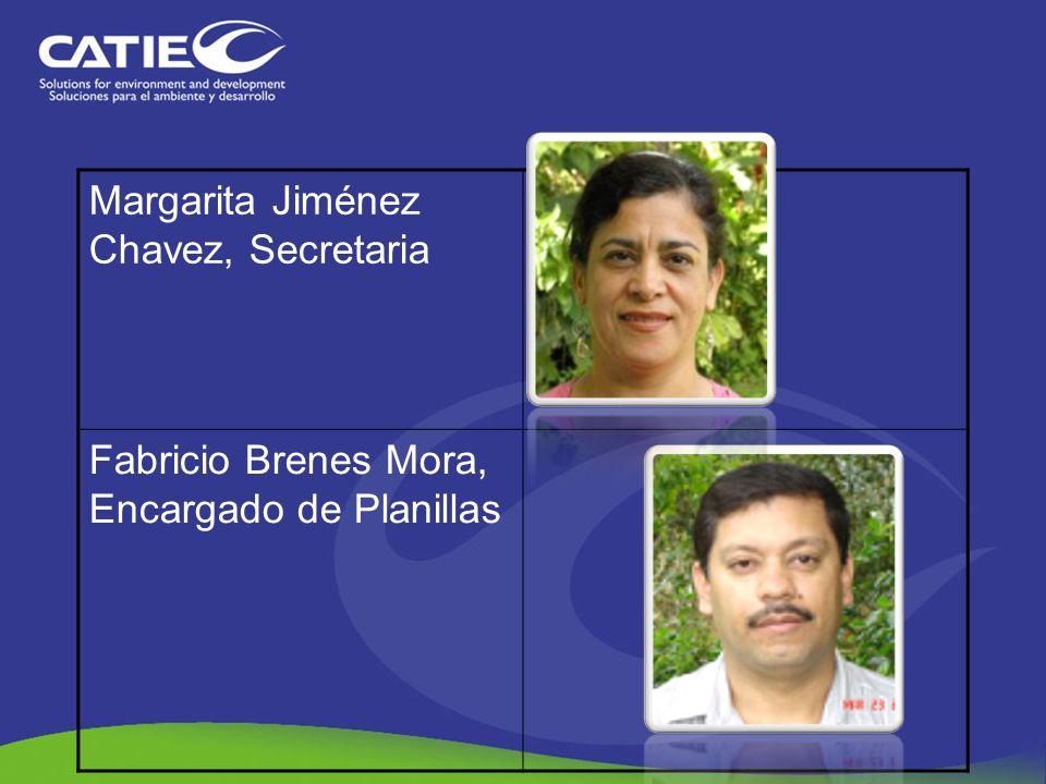 Margarita Jiménez Chavez, Secretaria