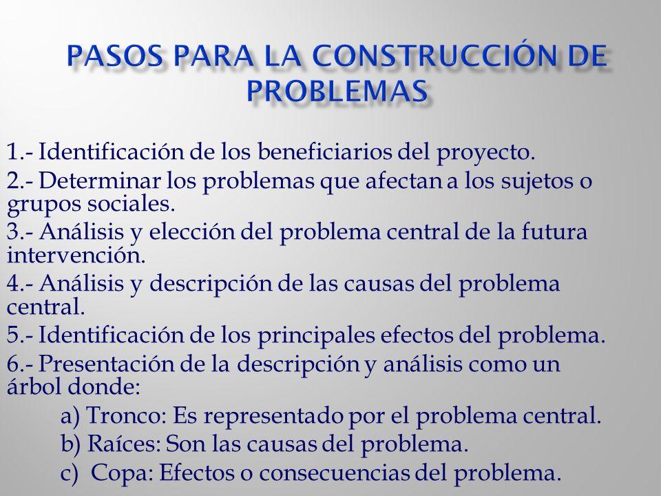 Pasos para la construcción de problemas
