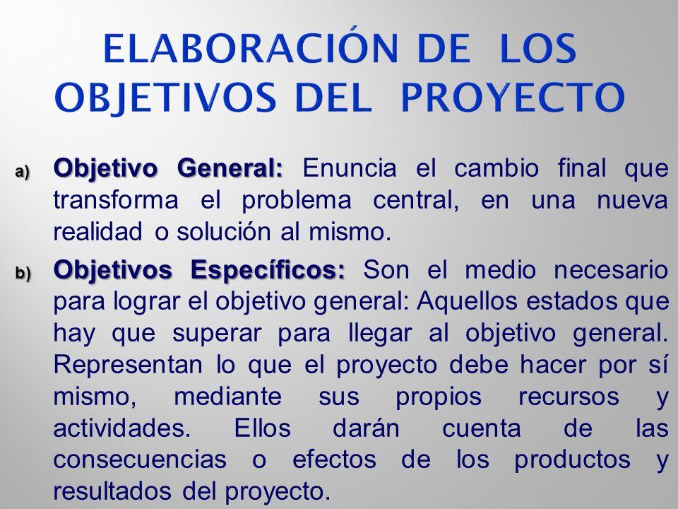 Elaboración de los Objetivos del Proyecto