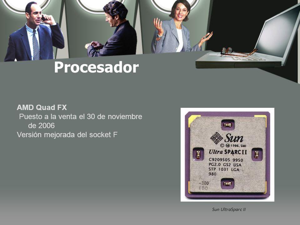 Procesador AMD Quad FX Puesto a la venta el 30 de noviembre de 2006