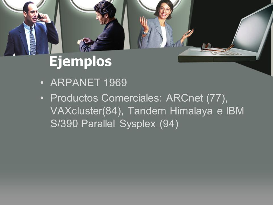 Ejemplos ARPANET 1969.