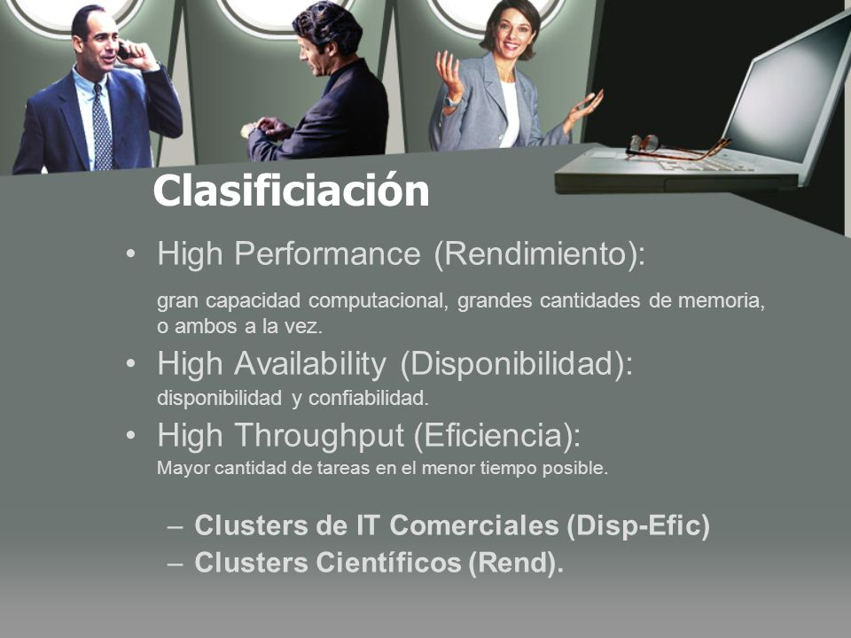 Clasificiación High Performance (Rendimiento):