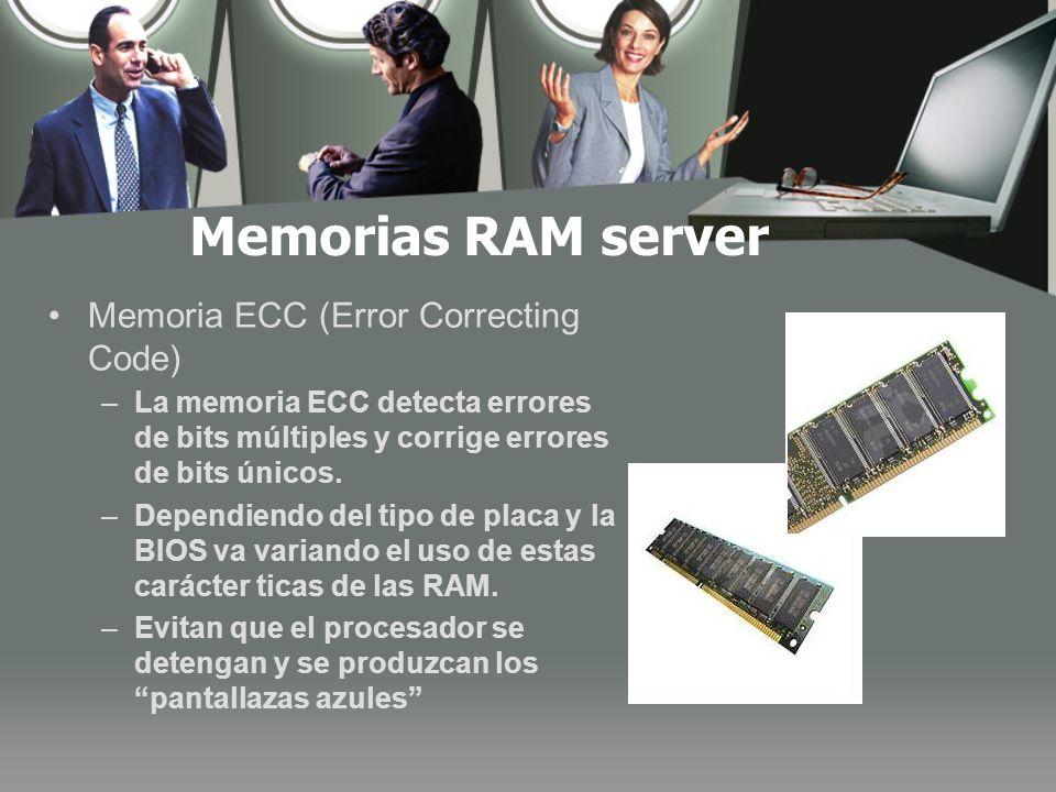 Memorias RAM server Memoria ECC (Error Correcting Code)