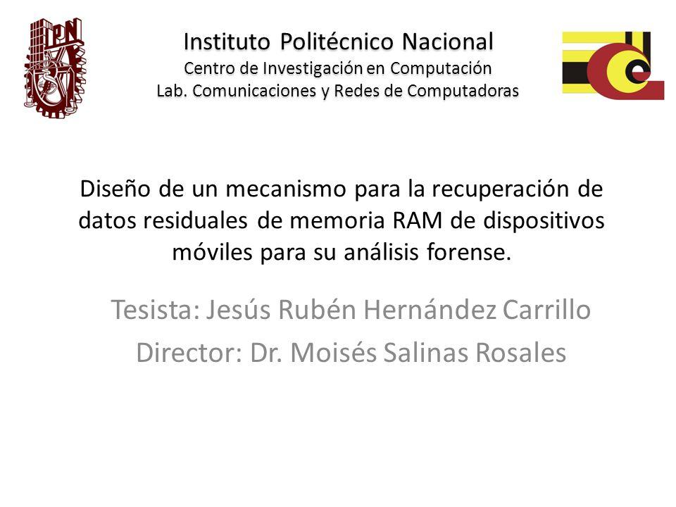 Tesista: Jesús Rubén Hernández Carrillo
