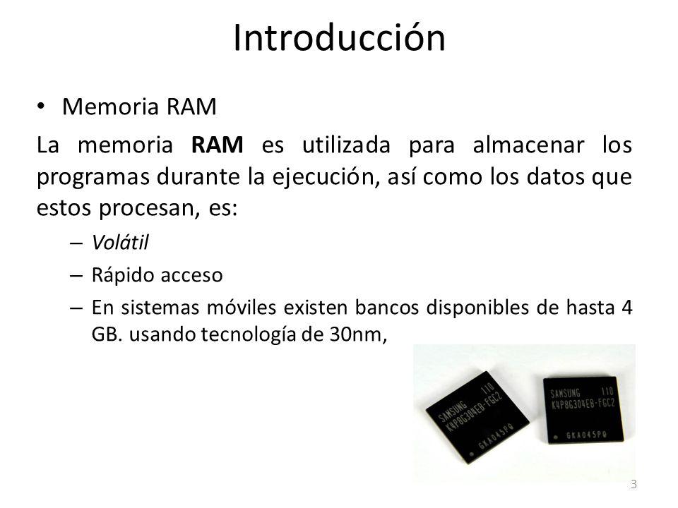 Introducción Memoria RAM