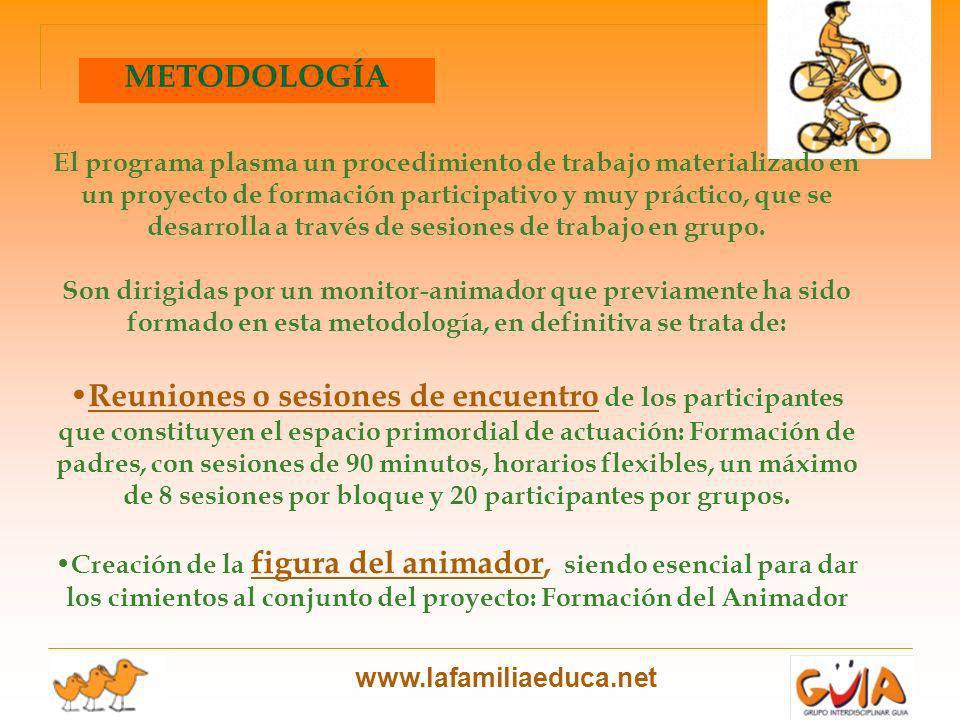 El programa plasma un procedimiento de trabajo materializado en un proyecto de formación participativo y muy práctico, que se desarrolla a través de sesiones de trabajo en grupo.