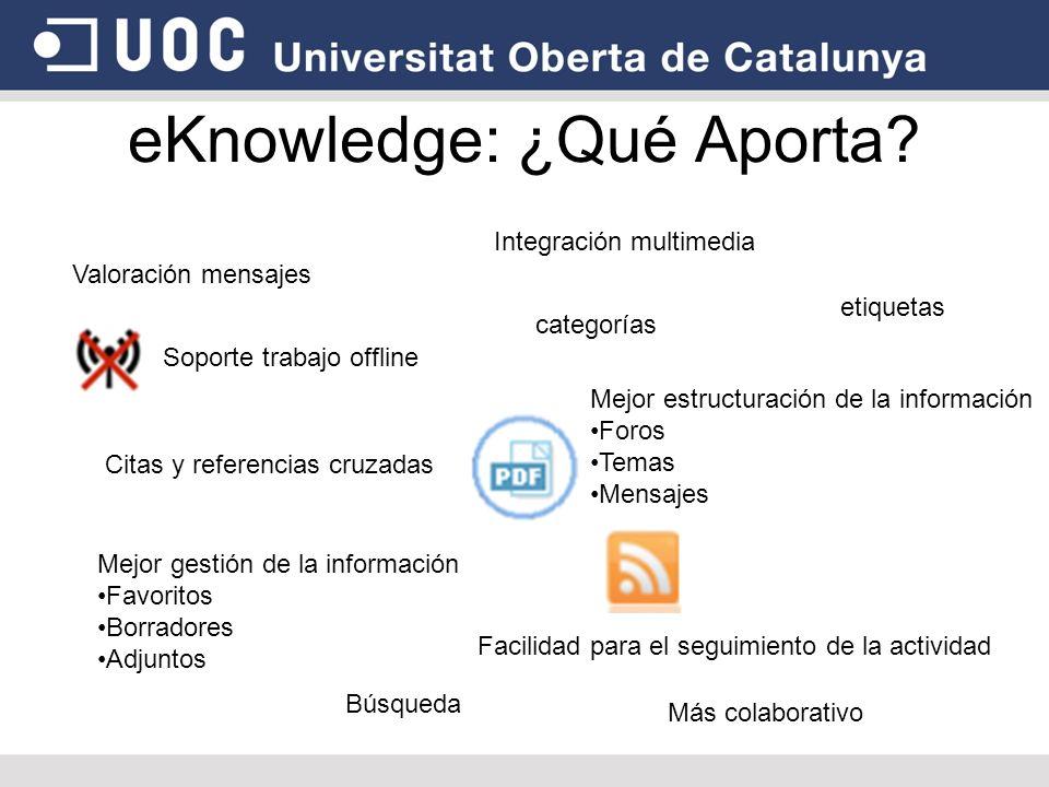 eKnowledge: ¿Qué Aporta
