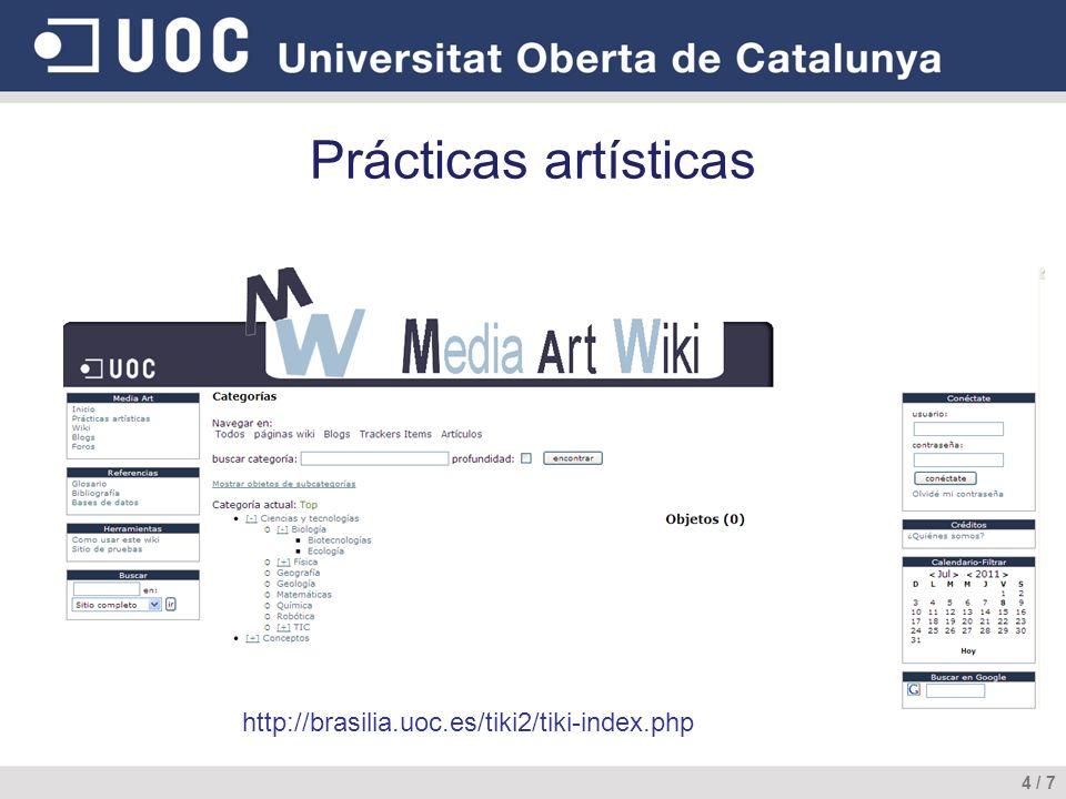 Prácticas artísticas http://brasilia.uoc.es/tiki2/tiki-index.php 4 / 7