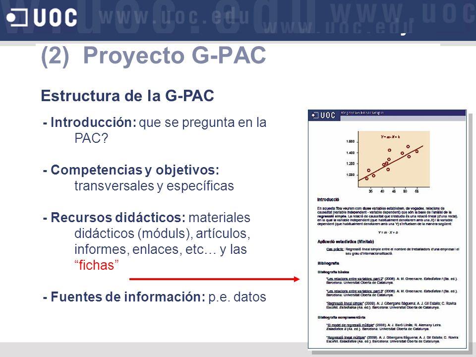 (2) Proyecto G-PAC Estructura de la G-PAC