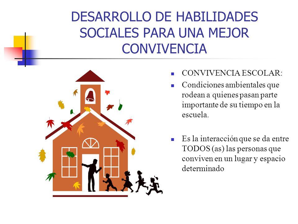 DESARROLLO DE HABILIDADES SOCIALES PARA UNA MEJOR CONVIVENCIA