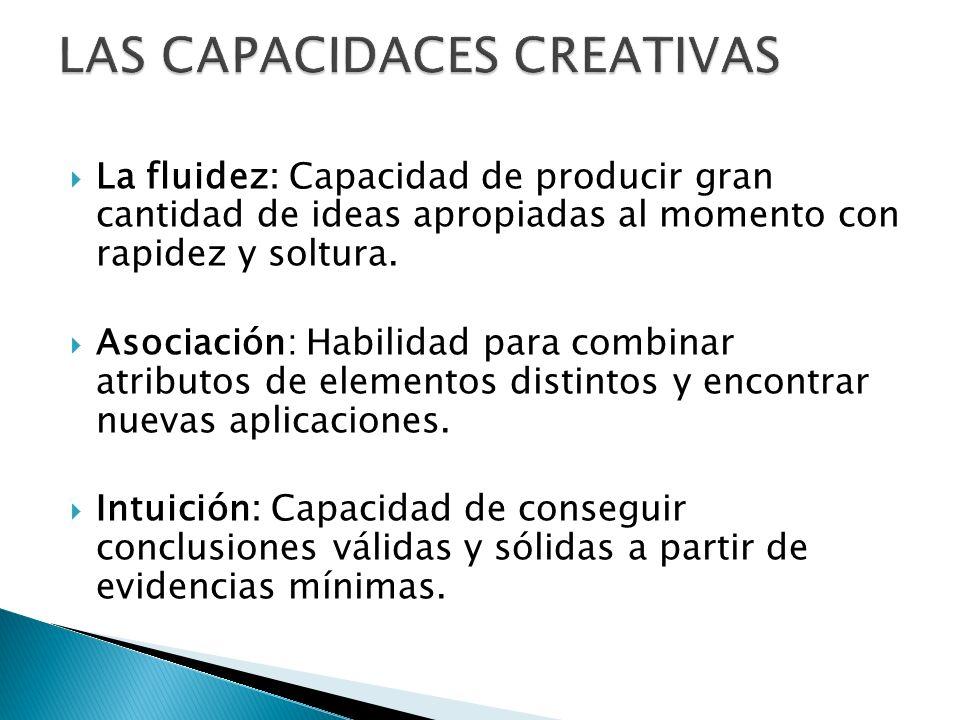 LAS CAPACIDACES CREATIVAS