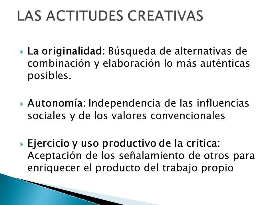 LAS ACTITUDES CREATIVAS