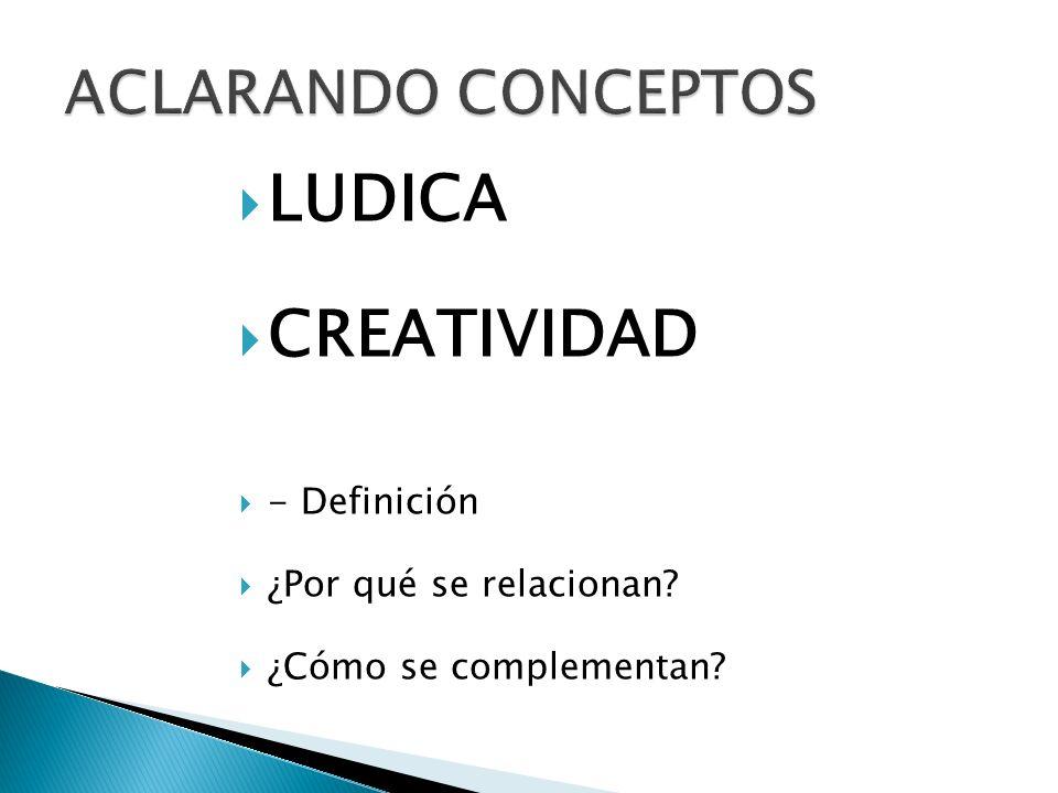 LUDICA CREATIVIDAD ACLARANDO CONCEPTOS - Definición