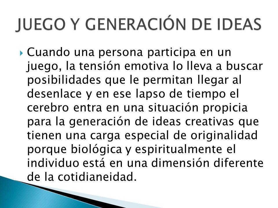 JUEGO Y GENERACIÓN DE IDEAS