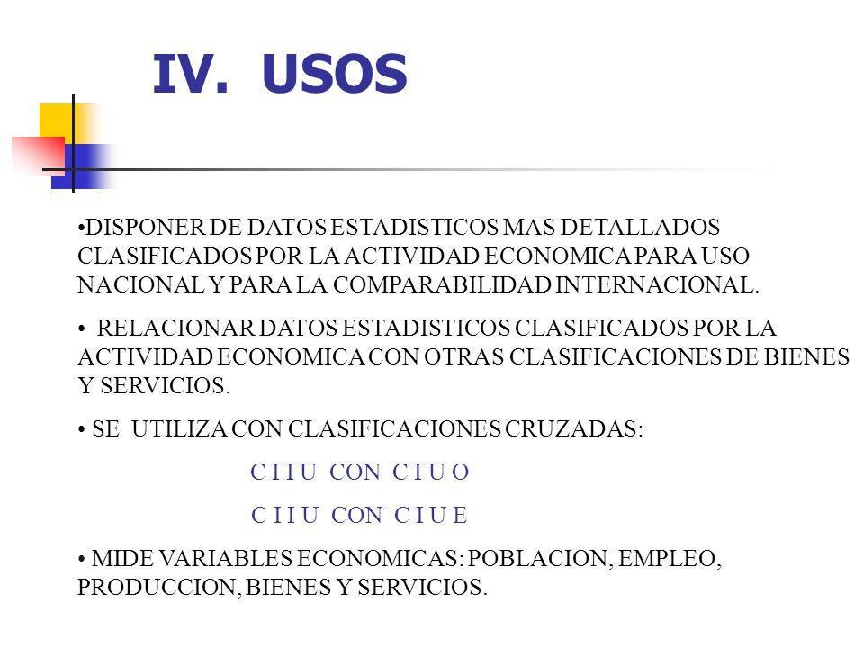 IV. USOS