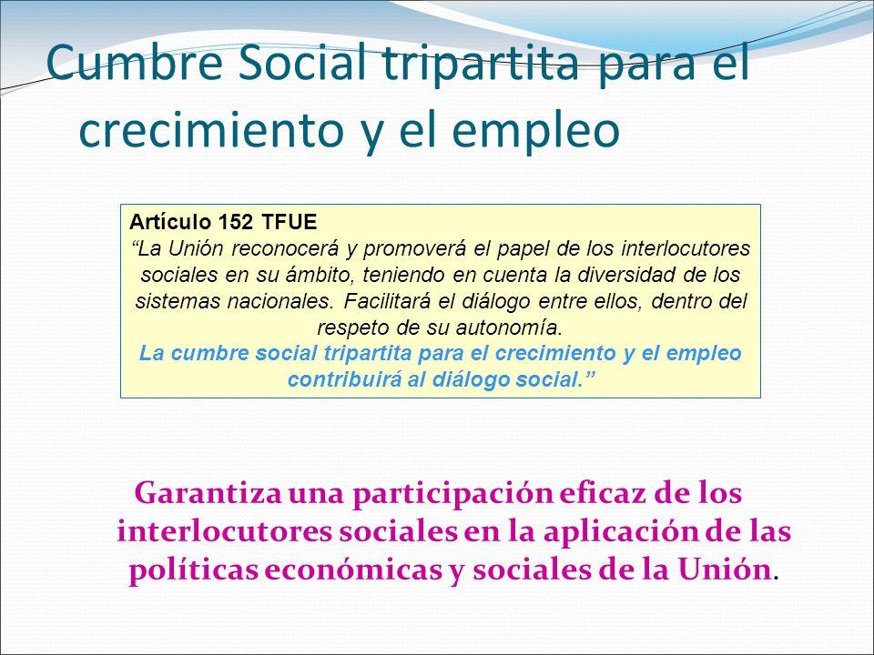 Cumbre Social tripartita para el crecimiento y el empleo