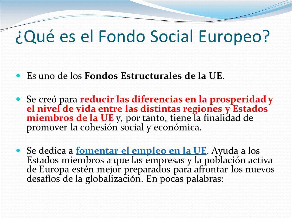 ¿Qué es el Fondo Social Europeo