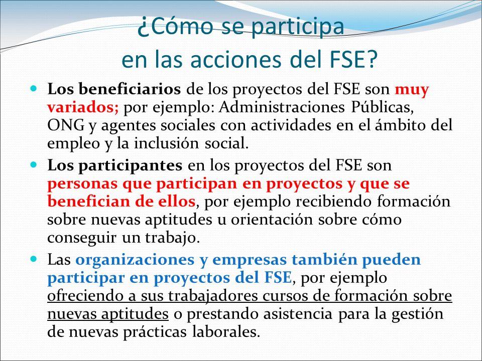 ¿Cómo se participa en las acciones del FSE