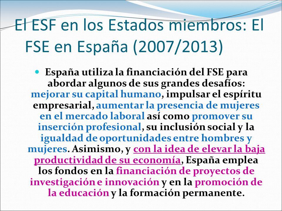 El ESF en los Estados miembros: El FSE en España (2007/2013)