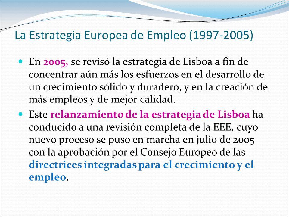 La Estrategia Europea de Empleo (1997-2005)