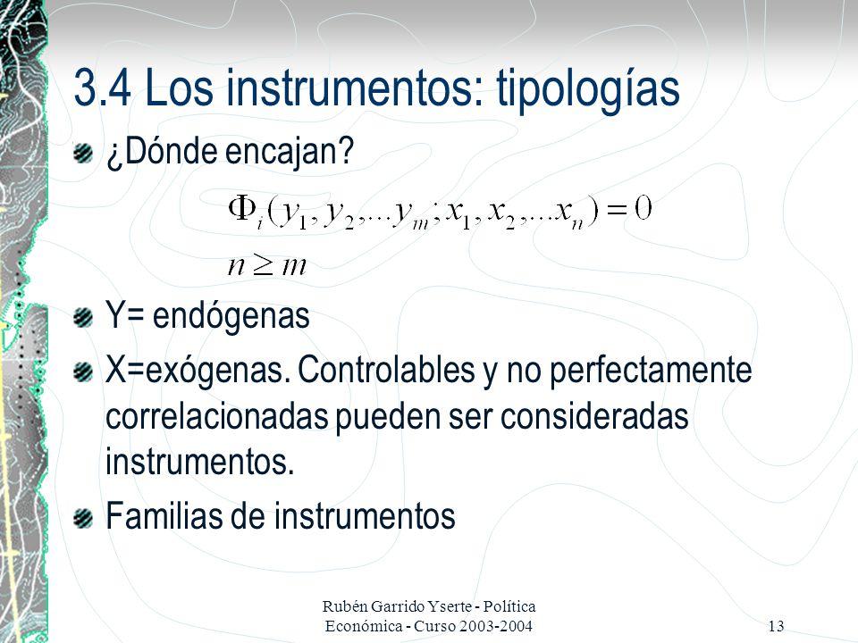 3.4 Los instrumentos: tipologías