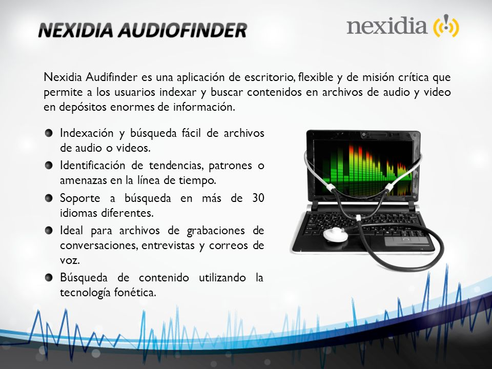NEXIDIA AUDIOFINDER