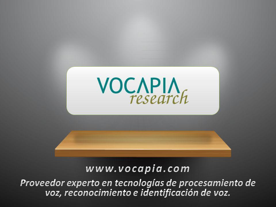 www.vocapia.com Proveedor experto en tecnologías de procesamiento de voz, reconocimiento e identificación de voz.