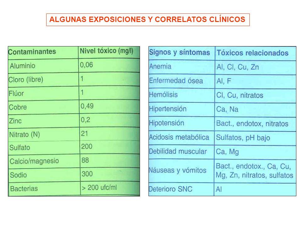 ALGUNAS EXPOSICIONES Y CORRELATOS CLÍNICOS